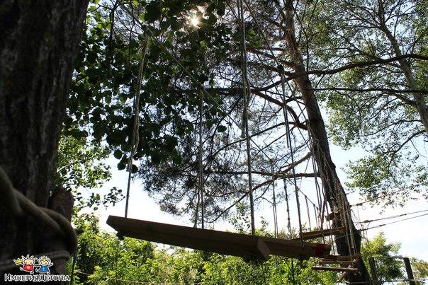 Верёвочный парк детского лагеря